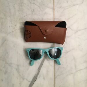 RARE!!! Teal Ray Band Sunglasses